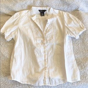 White blouse with buttons